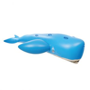 Giant Whale 11.5 ft Ride-On Pool Float