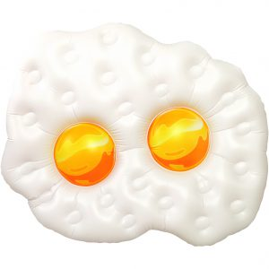 Giant Fried Egg 5 ft Pool Float