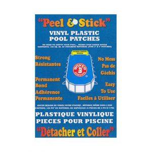 Vinyl Plastic Pool Patches (Tape) 100 Sq. In.
