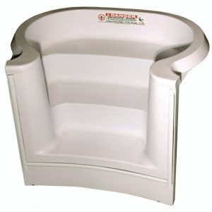 Performance Step 4 ft 3 Tread French Curved White
