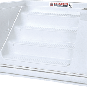 Performance Step 6 ft 4 Tread Straight Cantilever-White