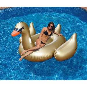 Swimline Giant Golden Goose Ride-On Pool Float
