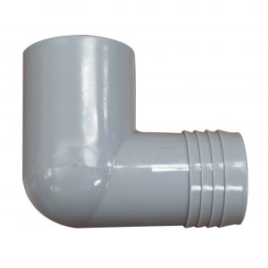 PVC 90 Degree Elbow 1.5 inch Socket Male Spig Insert x 1.5 inch Barbed