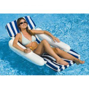 SunChaser Padded Floating Luxury Pool Lounger