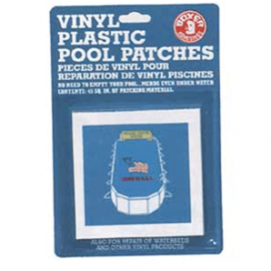 Vinyl Plastic Pool Patches (Tape) 40 Square Inches