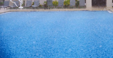 Rain on Swimming Pool