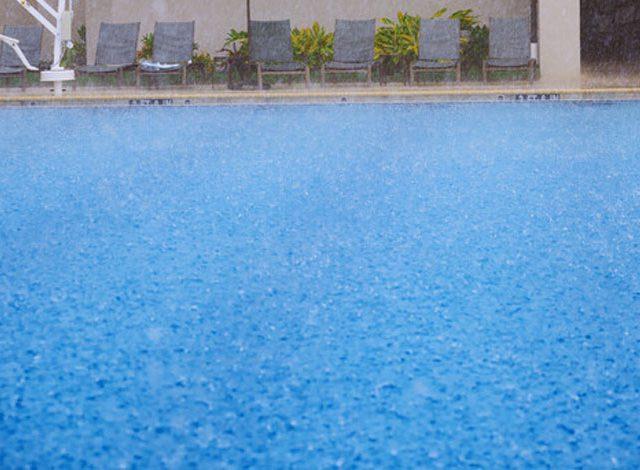Rain on Swimming Pool